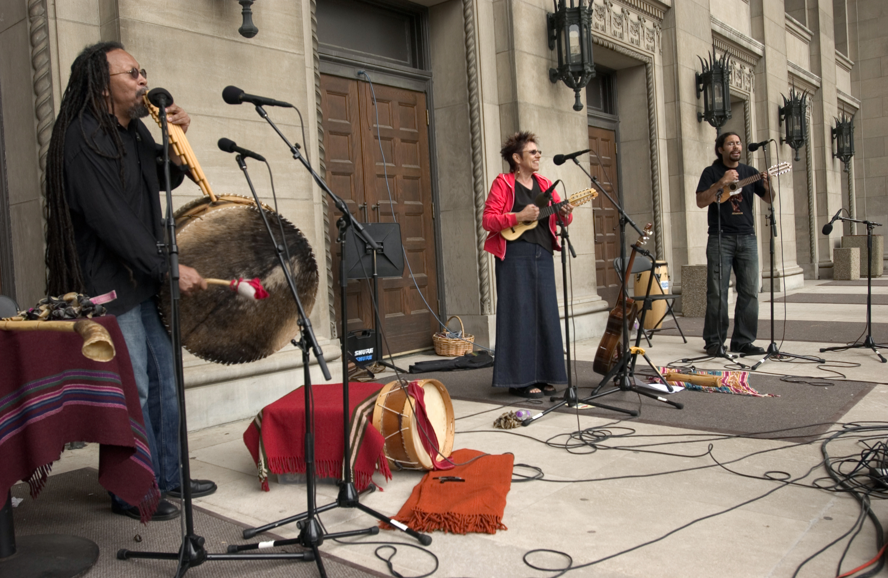 Photo of musicians on the Plaza