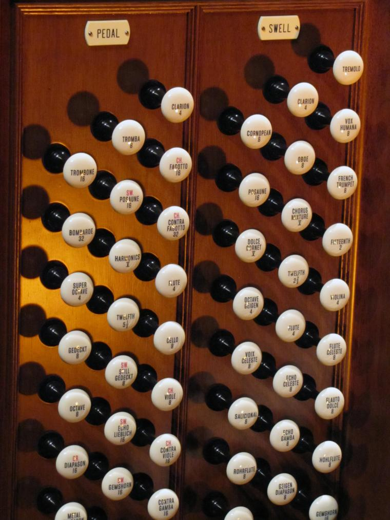 Closeup of Northrop organ