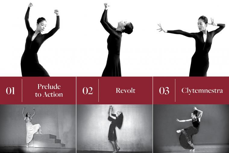 1. Prelude to Action; 2. Revolt; 3. Clytemnestra