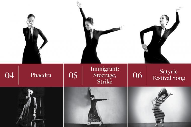 4. Phaedra; 5. Immigrant: Steerage, Strike; 6. Satyric Festival Song