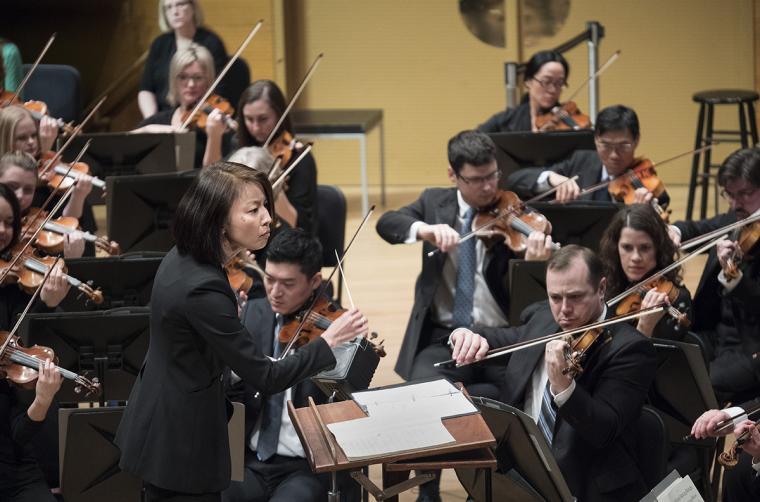Akiko Fujimoto conducts the Minnesota Orchestra