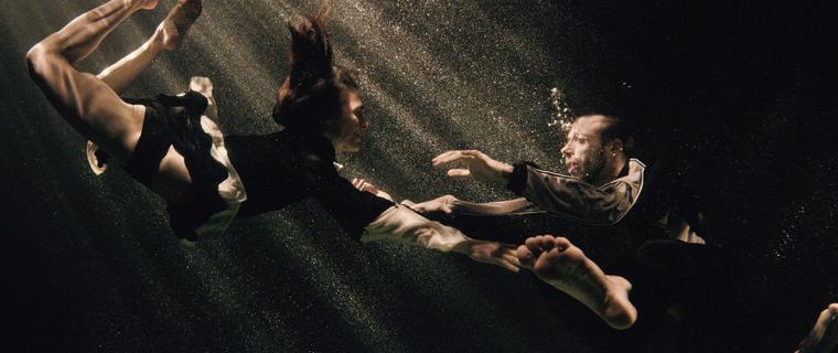 Alex and Rachel underwater scene from Michael Keegan-Dolan's Swan Lake / Loch na hEala
