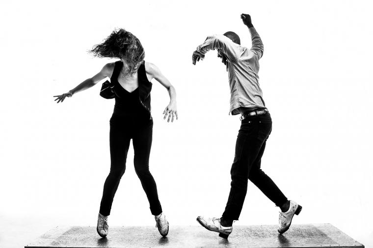 Myelination. Dancers, Michelle Dorrance and Byron Tittle