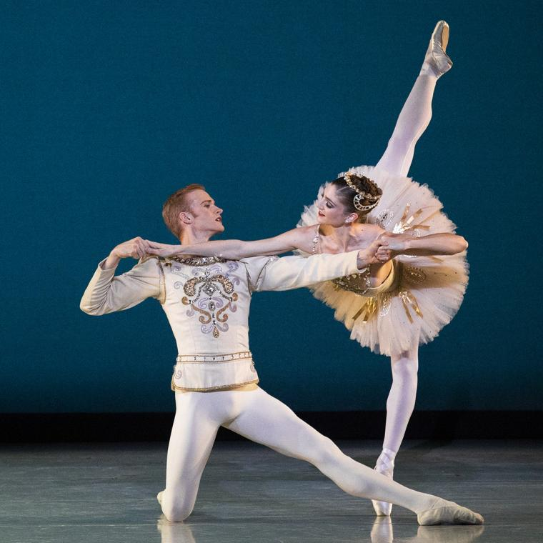 Scene from Diamonds with Emily Adams and Adrian Fry of Ballet West