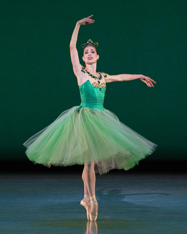 Scene from Emeralds with Katherine Lawrence of Ballet West