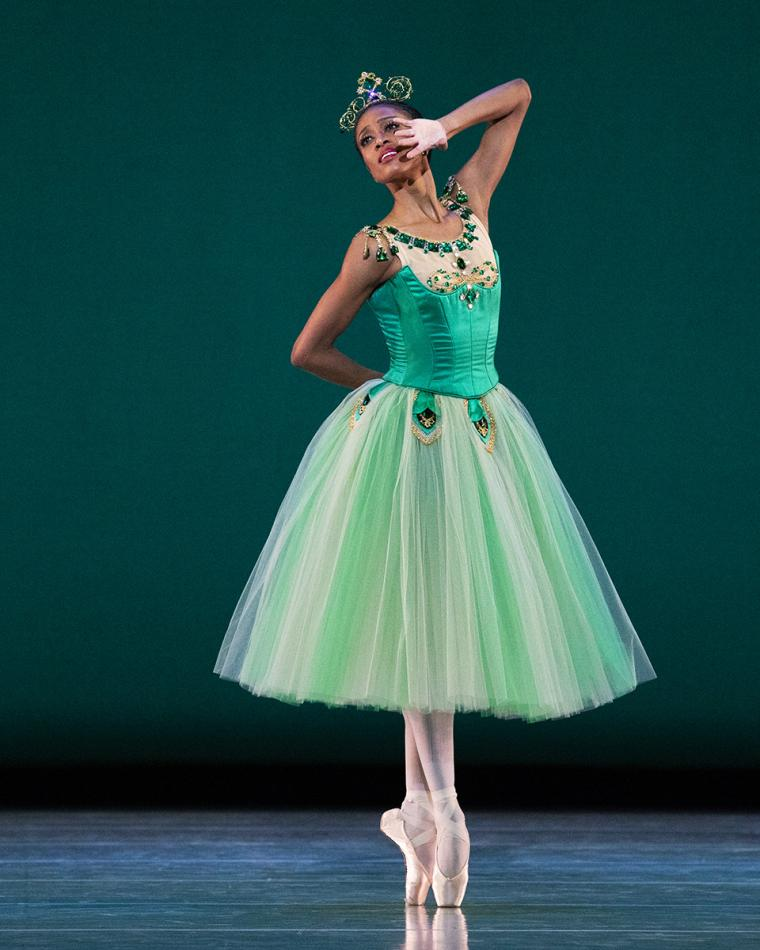 Scene from Emeralds with Katlyn Addison of Ballet West