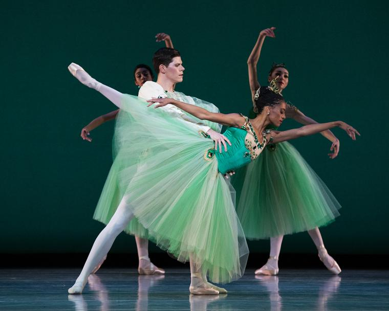 Scene from Emeralds with Katlyn Addison and Trevor Naumann of Ballet West
