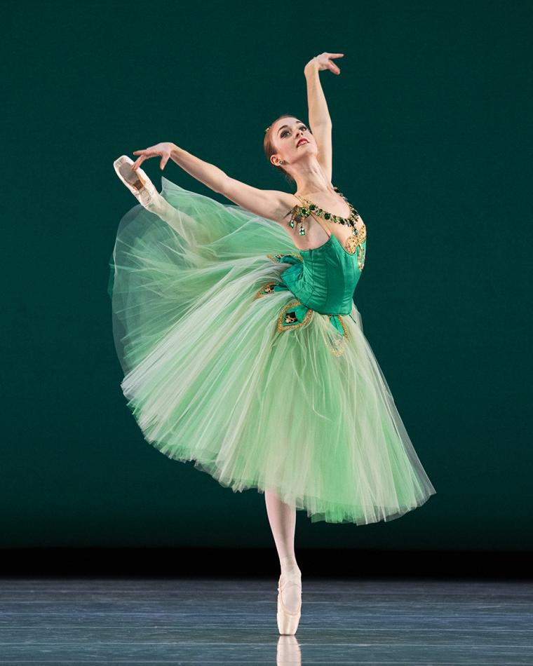 Scene from Emeralds with Kazlyn Nielsen of Ballet West
