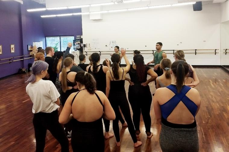 Members of Black Grace led a master class with 26 students that Performing Institute of Minnesota Arts High School also on Nov 8