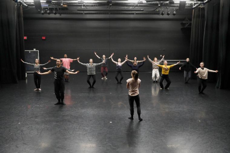Members of Black Grace performed during master class at the University of Minnesota's Baker Center on Nov 8