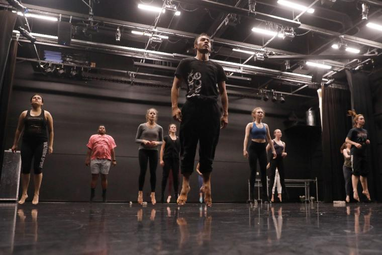 Master class with U of M dance students at Barker Center