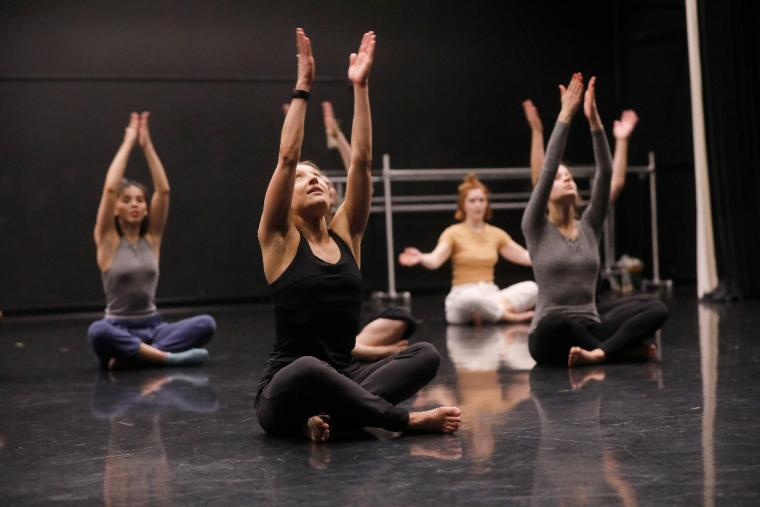 Members of Black Grace gave a master class to University of Minnesota dance program students at the Barker Center on Nov 8