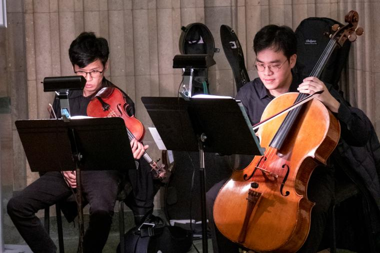 Hocheol Shin, cello and Hsu Yu-Chia, violin