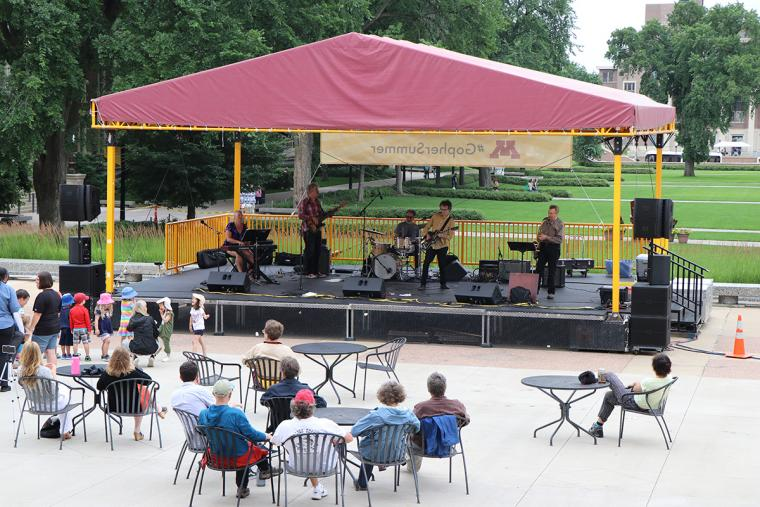 The Fragrants on stage July 10 2019 for Music on the Plaza at Northrop