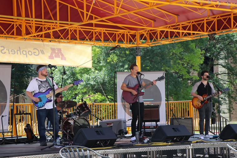 Dave Sandersfeld performed on July 31 for Northrop's Music on the Plaza