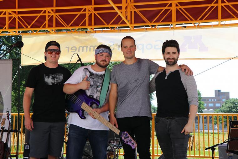 Final bow, Michael Frahm, Adam Couch, Dave Sandersfeld, and Scott Berman