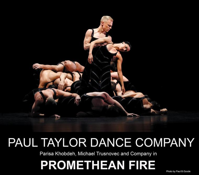 Paul Taylor Dance Company Parisa Khobdeh, Michael Trusnovec and Company in Promethean Fire