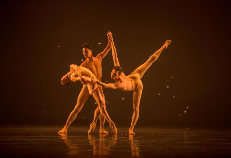 The Joffey Ballet in Fool's Paradise Victoria Jaiani, Temur Suluashvili, Rory Hohenstein