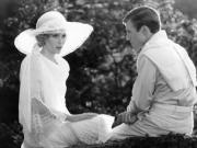 "Mia Farrow and Robert Redford in ""The Great Gatsby"""